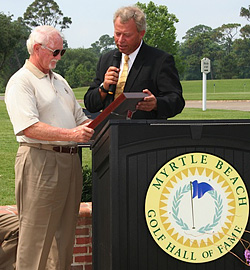 Paul Himmelsbach receives MB Golf Hall of Fame plaque
