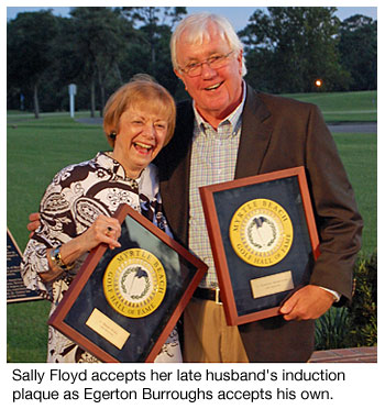 Sally Floyd and Egerton Burroughs at the Myrtle Beach Golf Hall of Fame