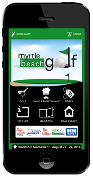Myrtle Beach Golf app home screen