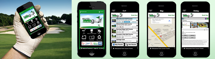 Myrtle Beach Golf app screen shots